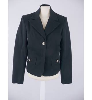 Vintage 1990 s  Size 12  Pinko by Chris Confidenza Italy  black dobby weave jacket