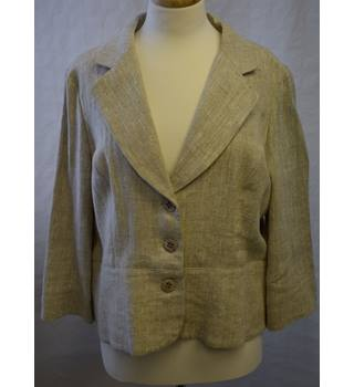 CC Cream Linen Suit UK Size 16