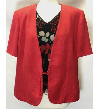 Jacques Vert Size: 18  Red Evening Jacket & Top