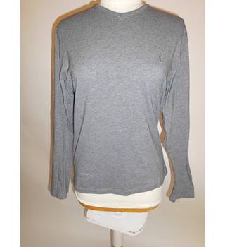 Mens Grey Yves Saint Laurent cotton top size small