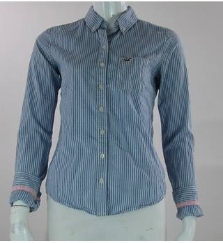 Hollister - Size: 10 - Blue Stripped- Cotton Long sleeved shirt