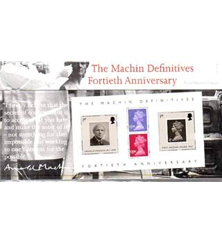 The Machin Definitives Fortieth AnniversaryFort Royal Mail Mint Stamps [Miniature Sheet]