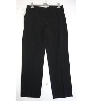 "M & S Size: 18, 36"" waist, 30"" inside leg Black Casual/Stylish Polyester & Viscose Blend Slim Leg Trousers With Stretch"