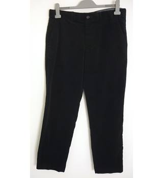 "M & S Size: M, 34"" waist, 29"" inside leg, regular fit Navy Blue Casual/Stylish All Cotton Corduroy Trousers With Active Waist"