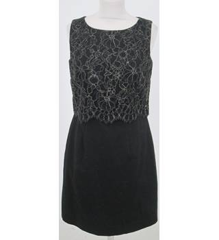 Monsoon: Size 10: Black cocktail dress with lace top