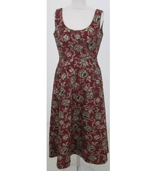 NWOT: Per Una: Size 14: Red mix Jacquard floral dress