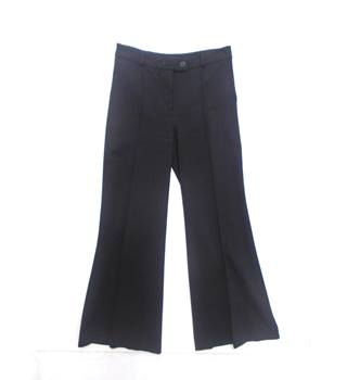 Hobbs - Size 10 - Black Wide-Leg Trousers