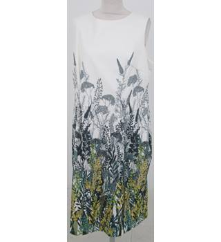 NWOT: Per Una Size 20:  Ivory floral mix shift dress