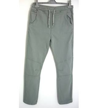 "M & S Size: 13- 14 Years, 28"" waist, 30"" inside leg, slim fit Grey Casual Cotton Jeans With Stretch And Cord Adjustable Waist"