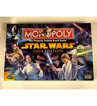 A Parker Brothers Star Wars Saga Edition (2005) Monopoly board game.