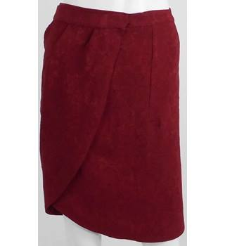 BNWT Massimo Dutti Red Wrap Around Mini Skirt UK Size 8 / Euro Size 36