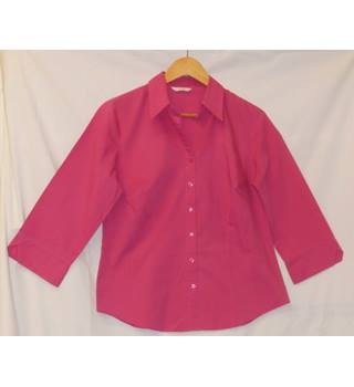 Pink 3/4 sleeve shirt M&S Marks & Spencer - Size: 16 - Pink - Blouse