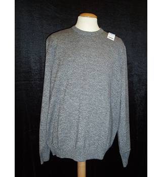 BNWT  Woolovers  Size L Grey marl 100% cotton crew neck Jumper