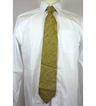 Green & Yellow Diagonal Patterned Silk Tie from Paul Smith