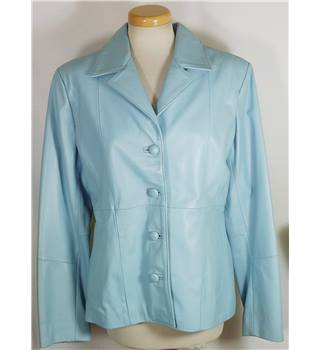 Freeport extra large powder blue 100% leather jacket