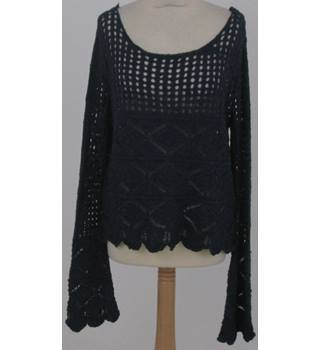 Spring Size 12 Navy Blue Crochet Jumper