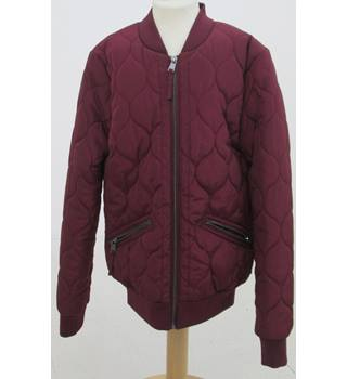 NWOT M&S - Size: 8 - Burgundy Bomber Jacket
