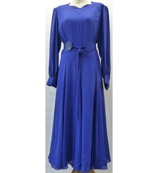 Unbranded - Size: 12 - Royal Blue - Full-length Vintage Dress