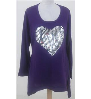Note size: 10 purple with silver sequin heart jumper
