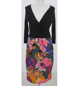 Per Una Size:10 black & floral occasion dress