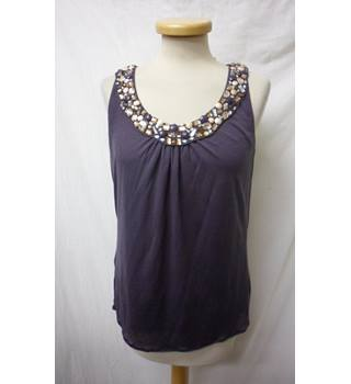 Boden - Size: 12 - Mink Colour - Jewelled Neck Sleeveless top