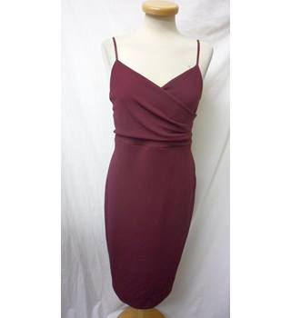 New Look - Size: 16 - Burgundy - Sleeveless Fitted Dress
