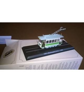 Atlas Limited Edition 1:87 Scale TW4 Herbrand A.E.G 1894 Tram Model.