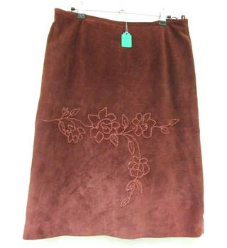 Monsoon suede skirt Monsoon - Size: 12 - Red - A-line skirt