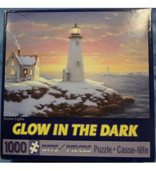 "Jigsaw Puzzle a ""Glow in the Dark"" 1000 piece puzzle ""Harbor Lights"""