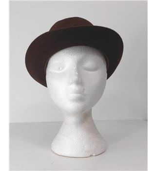 Christys' London Coffee Brown Fedora Hat