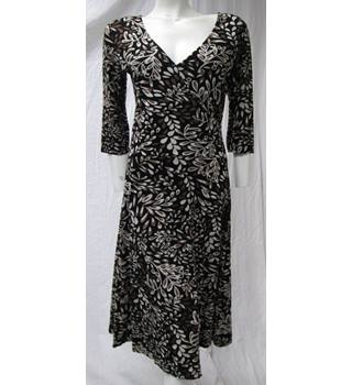Adini Floral Pattern Dress Size 10 Adni - Size: 10 - Brown