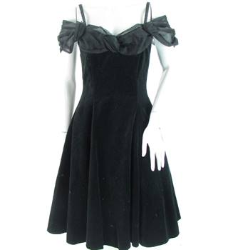VINTAGE - Charlotte Halton - Size: 8 - Black - Knee length dress