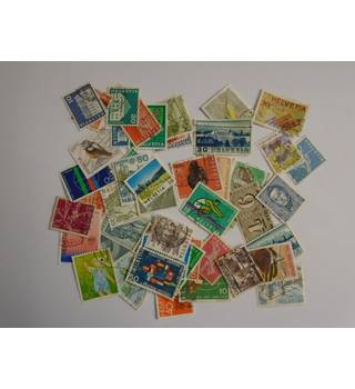 A MIXED LOT OF STAMPS FROM SWITZERLAND Multi-coloured