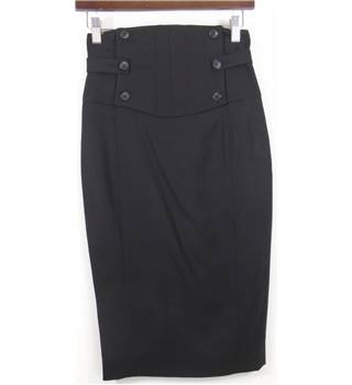 All Saints size 8 Black Pencil Skirt
