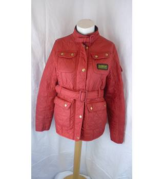 WONDERFUL GIRLS RED BARBOUR JACKET, SIZE XXL Barbour - Size: Other - Red - Quilted jacket
