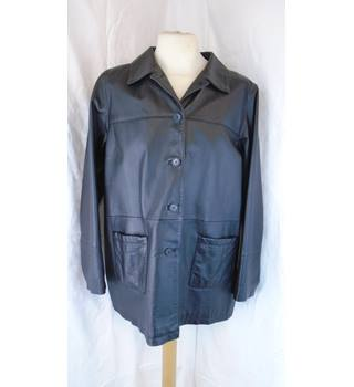BLACK IMAGES LEATHER JACKET, SIZE XXL Images - Size: XXL - Black - Leather jacket