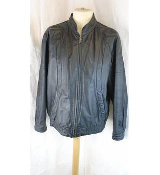 BLACK DEBENHAMS LEATHER JACKET, SIZE L Debenhams - Size: L - Black - Leather jacket