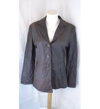 BROWN LAKELAND LEATHER JACKET, SIZE 12 Lakeland - Size: 12 - Brown - Jacket