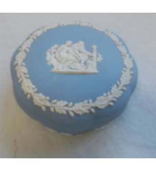 Wedgwood Blue Jasper Circular Pot And Cover
