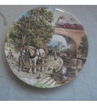 Vintage 1993 Wedgwood Bone China Plate Over The Canal John Chapman Limited Edition