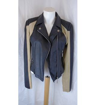 PARISIAN COLLECTION  FAUX LEATHER JACKET, SIZE 10 Parisian Collection - Size: 10 - Multi-coloured - Jacket