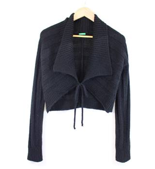 "United Colours of Benetton - Size: S (34"") - Black - Ladies' Wrap-over Cardigan"