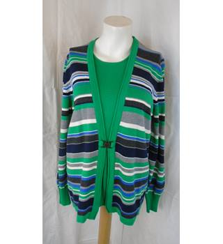 GREEN STRIPED JUMPER FROM RABE, SIZE 42 Rabe - Size: 14 - Multi-coloured - Jumper
