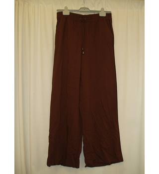 BNWT Next  Size M  Brown with black herringbone pattern Palazzo Pants