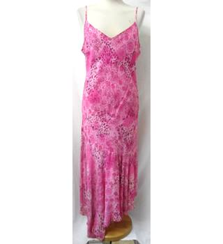 Per Una - Size: 16 (Regular) - Pink with Mixed Patterns - Long dress