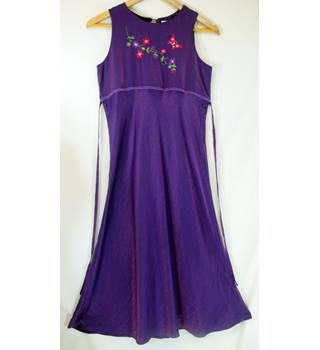 M&S Marks & Spencer - Size: 12 Years Old - Purple red white green - Full length dress