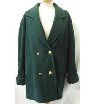 House of Fraser Cashmere Wool Collection- Size: L - Dark Green Coat