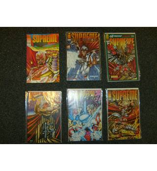 Six Image Comics in 'Supreme' series - issues 2, 9, 11, 12, 14, 25 all in excellent condition