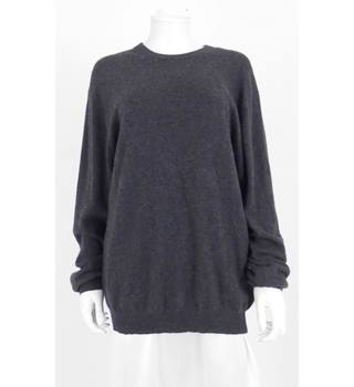 Turnbury Large Charcoal Grey Men's Crew Neck Cashmere Jumper