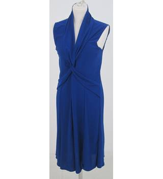 Tiana b: Size M: Cobalt blue cross over front dress